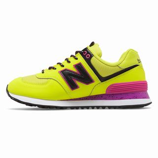 New Balance 574 Womens Casual Shoes Light Green Black (QYTI7240)