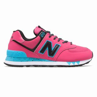 New Balance 574 Womens Casual Shoes Pink Black (EJDP4196)