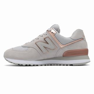 New Balance 574 Womens Casual Shoes Grey Metal (EYVQ3808)