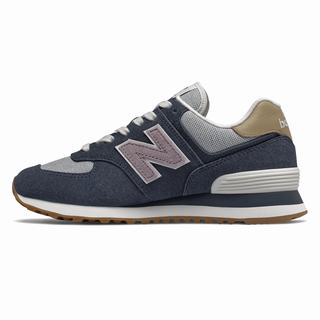 New Balance 574 Womens Casual Shoes Navy Pink (CINZ9385)