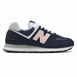 New Balance 574 Womens Casual Shoes Navy Pink (HWRN7586)