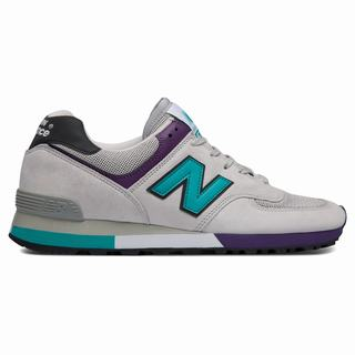 New Balance 576 Made in UK Mens Casual Shoes White Turquoise (WFAZ9552)