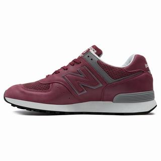 New Balance 576 Made in UK Mens Casual Shoes Dark Red Grey (FBCK7683)