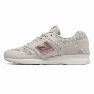 New Balance 697 Womens Casual Shoes Beige Grey (XHRY2180)