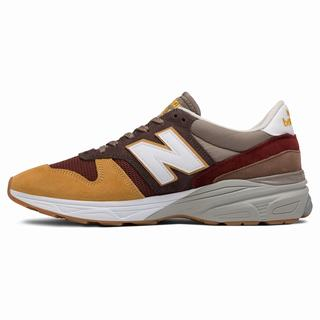 New Balance 770.9 Made in UK Mens Casual Shoes Brown Dark Red (PQRG9103)