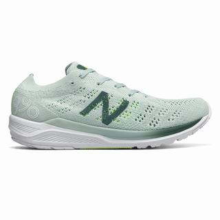New Balance 890v7 Womens Running Shoes Dark Light Green (HAWF3308)