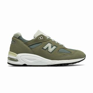 New Balance 990v2 Made in US Mens Chunky Trainers Khaki (JSGY3632)