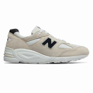 New Balance 990v2 Made in US Mens Chunky Trainers Beige (SUPZ2241)
