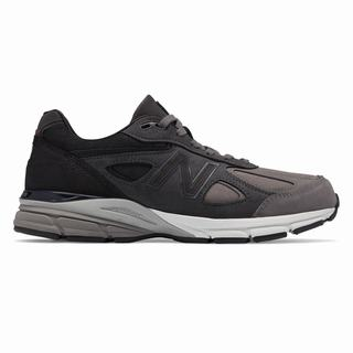 New Balance 990v4 Made in US Mens Casual Shoes Grey Black (IODK7660)