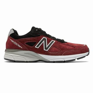 New Balance 990v4 Made in US Mens Casual Shoes Red Black (PLUF2119)
