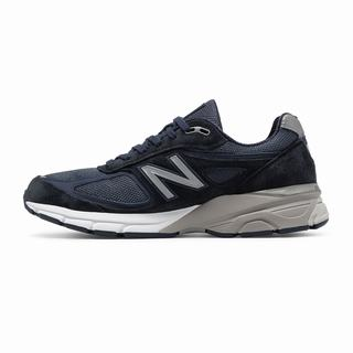 New Balance 990v4 Made in US Mens Chunky Trainers Navy Silver (LFGQ3303)
