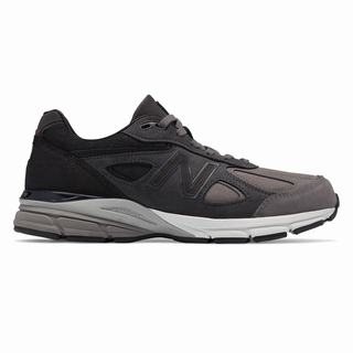 New Balance 990v4 Made in US Mens Chunky Trainers Grey Black (XSGA7671)