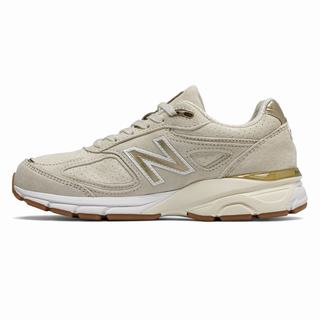 New Balance 990v4 Made in US Womens Casual Shoes Beige Gold (BOPR5075)