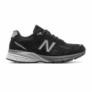 New Balance 990v4 Made in US Womens Casual Shoes Black Silver (RJOS1607)