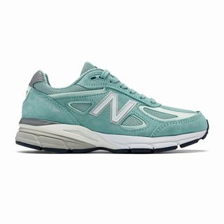 New Balance 990v4 Made in US Womens Chunky Trainers Light Blue (SKBI3481)