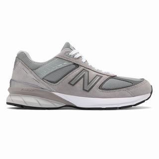 New Balance 990v5 Made in US Mens Chunky Trainers Grey (JUIW9746)