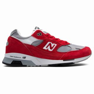 New Balance 991.5 Made in UK Mens Chunky Trainers Red Grey White (WSGQ5836)