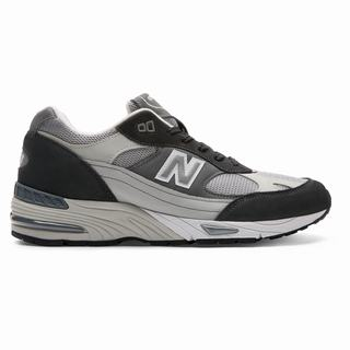 New Balance 991 Made in UK Mens Casual Shoes Black Grey (HLNZ2477)
