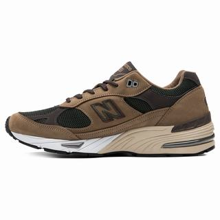 New Balance 991 Made in UK Mens Casual Shoes Brown Green (WHJK2431)