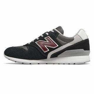 New Balance 996 Mens Casual Shoes Grey Burgundy (BAXL9651)