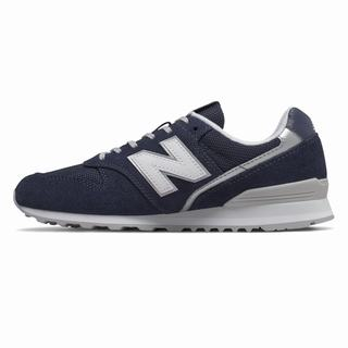 New Balance 996 Womens Casual Shoes Navy Silver (SVHJ7874)