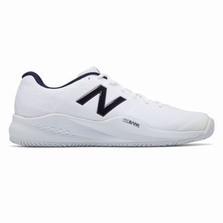 New Balance 996v3 Mens Tennis Shoes White Navy (DWON5985)