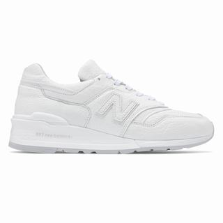 New Balance 997 Bison Made in US Mens Chunky Trainers White Grey (BVDJ5554)