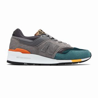 New Balance 997 Made in US Mens Casual Shoes Grey Turquoise (IJUR2247)