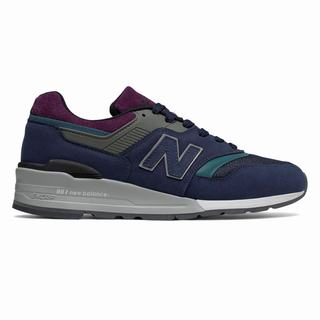 New Balance 997 Northern Lights Mens Casual Shoes Navy Grey (YXQB1928)