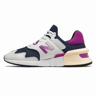 New Balance 997 Sport Mens Casual Shoes White Navy Purple  (ELBM5705)