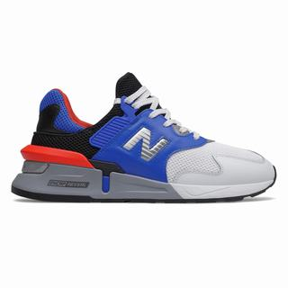 New Balance 997 Sport Mens Casual Shoes Blue Orange Black (PGJM2118)