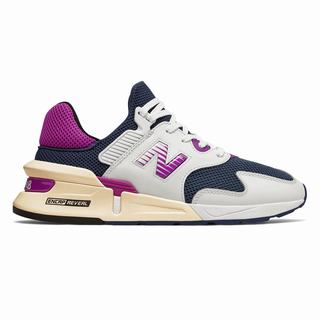New Balance 997 Sport Mens Chunky Trainers White Navy Purple  (XJVR9414)