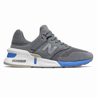 New Balance 997 Sport Mens Chunky Trainers Grey Light Blue (WATM2606)