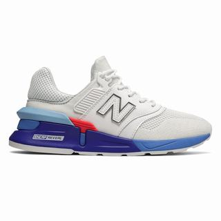 New Balance 997 Sport Womens Casual Shoes White Light Blue (EFRW8649)