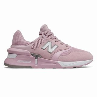 New Balance 997 Sport Womens Chunky Trainers Pink White  (OAHR9200)