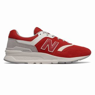 New Balance 997H Mens Casual Shoes Red Grey (DZIJ9066)
