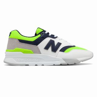 New Balance 997H Mens Casual Shoes White Green Navy (WFEJ1783)