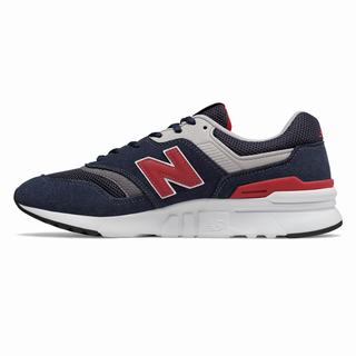 New Balance 997H Mens Chunky Trainers Navy Red  (KVJL6642)