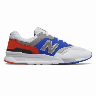 New Balance 997H Mens Chunky Trainers White Royal Blue Red  (YBAH5863)