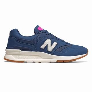 New Balance 997H Womens Chunky Trainers Navy Pink (KCFO1922)