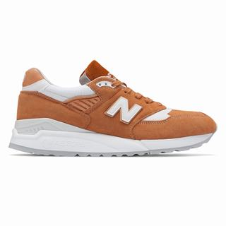 New Balance 998 Made in US Mens Casual Shoes Brown White (NYQE3189)