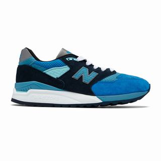 New Balance 998 Made in US Mens Chunky Trainers Blue Silver (FWVN8844)