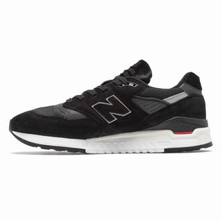 New Balance 998 Made in US Mens Chunky Trainers Black Red (AIBT7013)
