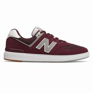New Balance All Coasts 574 Mens Casual Shoes Burgundy White (YKCR3863)