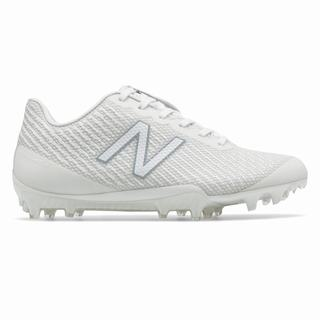 New Balance Burn X Low-Cut Womens Lacrosse Cleats White (KGED2485)