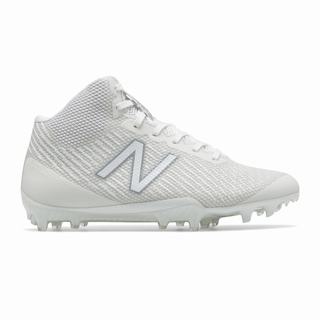 New Balance Burn X Mid-Cut Womens Lacrosse Cleats White (CJBW2678)