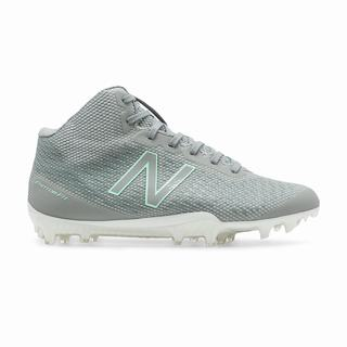 New Balance Burn X Mid-Cut Womens Lacrosse Cleats Grey (CZRO1277)