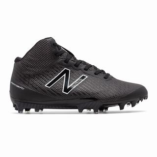 New Balance Burn X Mid-Cut Womens Lacrosse Cleats Black White (XVFT5870)