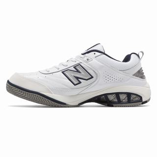 New Balance Court 806 Mens Tennis Shoes White Navy (YCQS9532)