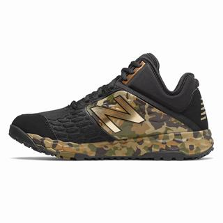 New Balance Fresh Foam 3000v4 Armed Forces Day Mens Baseball Shoes Black Camo Green (ULPE1743)